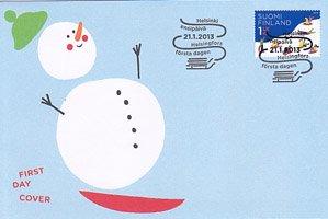 フィンランド・雪遊び・2013・FDC
