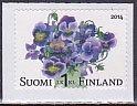 フィンランドの切手・パンジー・2014(セルフ糊)