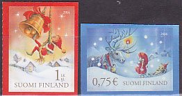 フィンランドの切手・クリスマス・2014(2)セルフ糊
