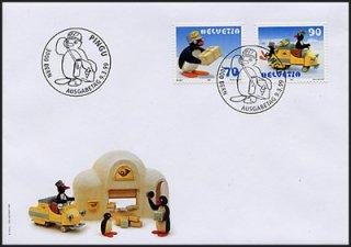 スイス・ピングーFDC・1999