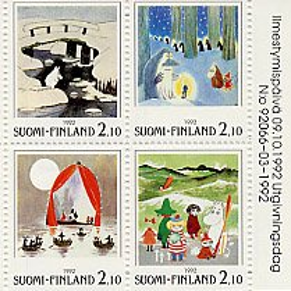 フィンランド・ムーミン切手帳・1992