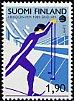 フィンランドの切手・ワールドスキー・1989