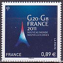 フランスの切手・G20−G8・2011