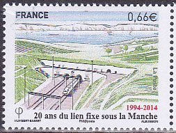 フランス・英仏海峡トンネル・切手・2014