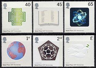 イギリス・ノーベル賞100年・切手・2001(6)