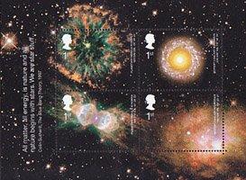イギリス・天文学・小型シート切手・2002
