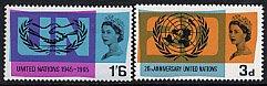 イギリスの切手・国連20年・1965(2)