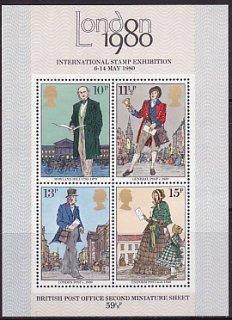 ロンドン国際切手展二次・1980・S/S(4)