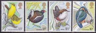 イギリス・野鳥・切手・1980(4)