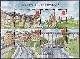 イギリス・ロンドン国際切手展・1990・二次・小型シート切手・1989