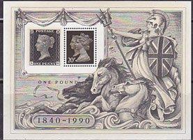 ロンドン国際切手展・1990・三次・1990・S/S(4)