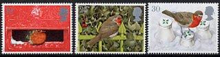 イギリスの切手・クリスマス・ことり・1995 (5)