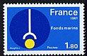 フランス・海底探査・切手・1981