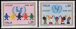 イタリア・ユニセフ25年・切手・1971(2)