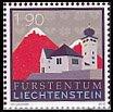 リヒテンシュタインの切手・教会と山・2010