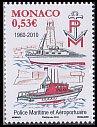 モナコ・海上警察50年・切手・2010