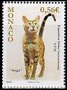 モナコの切手・国際キャットショウ・2010