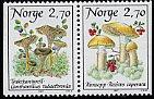 ノルウェー・マッシュルーム・きのこの切手・1987(2)