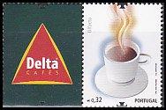 ポルトガルの切手・デルタコーヒー・2009