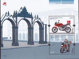 アゾレスの切手・ヨーロッパ・郵便車・2013・S/S