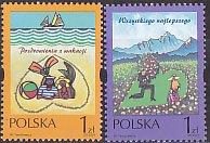 ポーランド・バレンタイン切手・2001(2)
