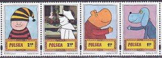 ポーランド・絵本のキャラクター・切手・2011(4)