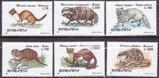 ルーマニア・貴重な毛皮を持つ動物・1997(6)