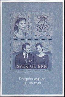 スウェーデンの切手・ロイヤルウェディング・小型シート・2010