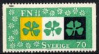 スウェーデンの切手・国連25年・クローバー・1970