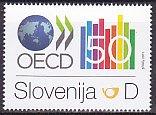 スロベニア・OECD50年・切手・2011