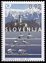 スロベニア・世界ボート選手権・切手・2011