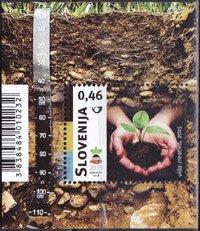 スロベニア・国際土壌年・小型シート切手・2015