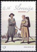 スロベニア・民族衣装・切手・2016
