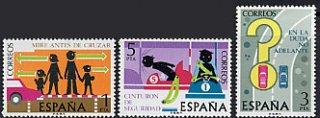 スペインの切手・交通安全(3)