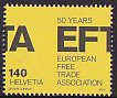 スイス・EFTA50年・切手・2010