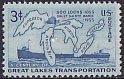 USA・スー水門開通100年・1955