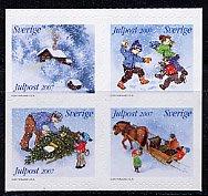 スウェーデンの切手・雪・2007A・セルフ糊