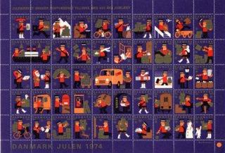 デンマーク・クリスマスシール1974(フレーム付き)