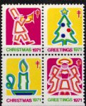 USA・クリスマスシール・1971