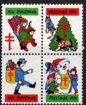 USA・クリスマスシール・1974