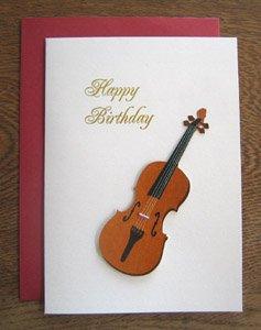 バースデイカード・切り紙バイオリン