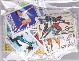 オリンピック切手・パケット約100枚