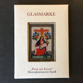 オーストリア・ピエタと十字架(ガラスの切手)2016