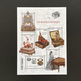 フランス・オルゴール・小型シート切手・2017