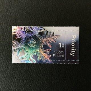 フィンランド・雪の結晶・切手・2016(セルフ糊)
