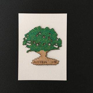 オーストリア・かしの木・木製切手・2017