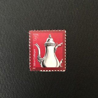 USA・シルバーポット・2007・セルフのり切手