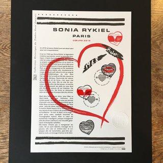 フランス・バレンタイン切手・ソニア・リキエル・ドキュマン・2018