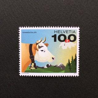 スイスの切手・うし・2017