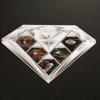 ベルギーの切手・ダイアモンド・M/S・2018